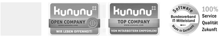 EMS GmbH Nuernberg I Zertifikate - kununu Top Company, kununu Open Company, Software Made in Germany - Bundesverband IT-Mittelstand