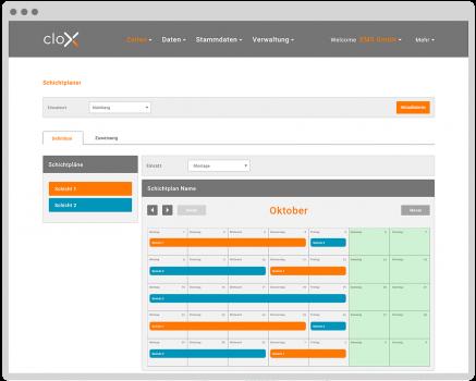 cloX-Schichtplaner